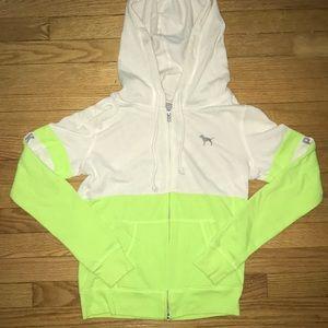 vs pink zipper hoodie
